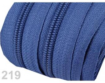 25 M blue zipper mesh 5 mm spiral