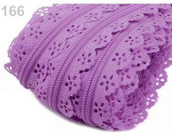 Purple lace closure mesh 3 mm spiral
