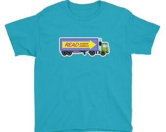 Kids Read Across America truck T-Shirt match literacy reading dr seuss grade school education books library book club