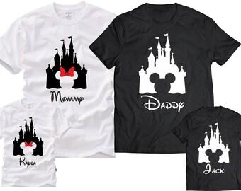 Disney Family Shirts, Mickey, Minnie,Custom T-shirt,Personalized Disney Shirts for Family Shirts Matching Disney Shirts Custom Vacation