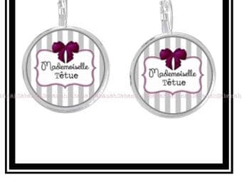 """Miss stubborn"" earrings"