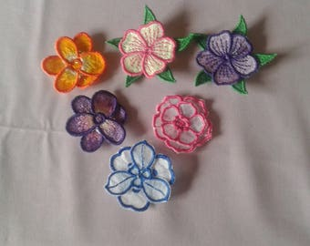 lace flowers in different colors