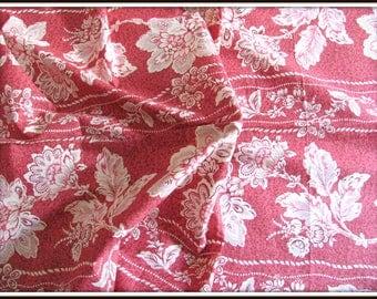 Fabric pattern big flowers 1 m 30 x 62cm