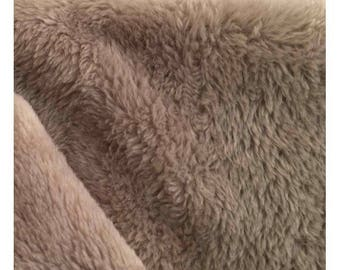 Double-sided plush fabric - Beige