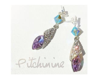 Genuine Amethyst Swarovski crystals and rhinestones