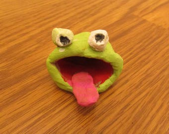 Clay Frog with tongue