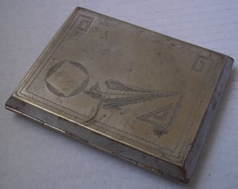 Vintage Rare ALPACA Cigarette Case Made in Latvia 1920s-1940s
