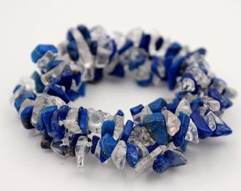 Azurite quartz 3-bracelet