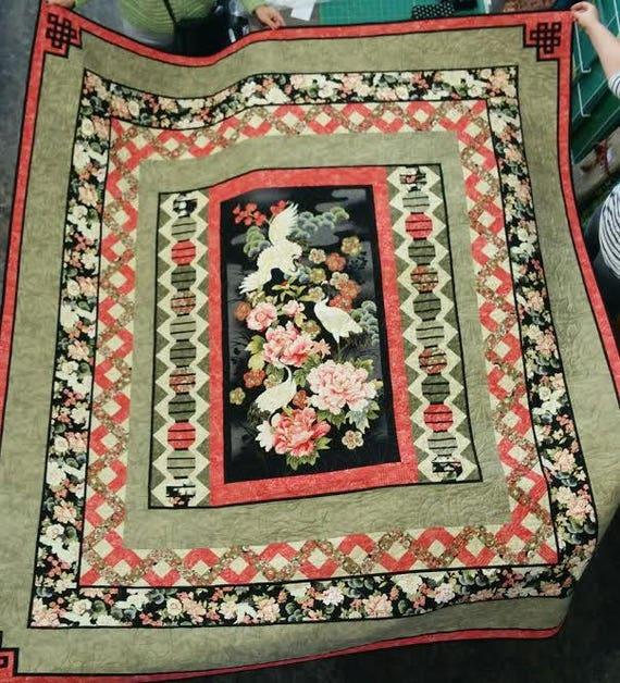 Oriental Garden Quilt Pattern Multi Sized Panel From