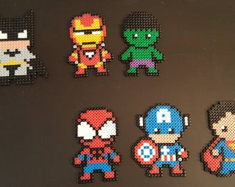 Super Hero in pearls hama, perler beads, Pixel art Perler beads