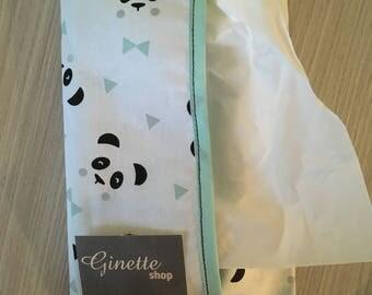 panda handkerchief case
