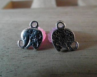 X 20 PCs 10mm silver plated elephant charms