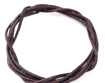 5 meters of dark brown cotton 1mm♥ ♥