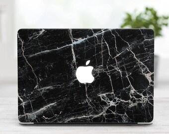 Black Marble MacBook Case MacBook Case MacBook Pro Case Marble MacBook Hard Case Macbook Air 13 Case MacBook Pro 15 Case Macbook 2017 cover