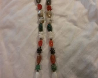 Vintage assorted gemstones necklace