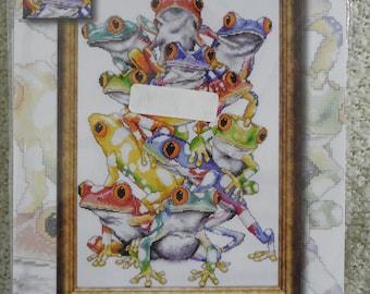 "Design Works ""Frog Pile"" #2599 Cross Stitch Kit"