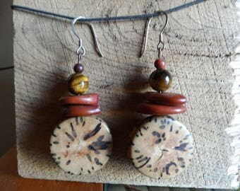Jupati and Tiger eye earrings