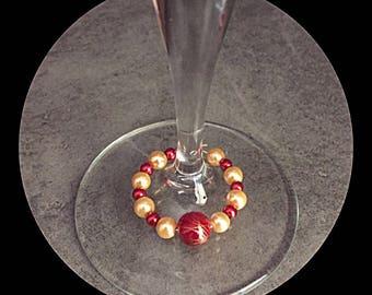 Glass stemware glass gem
