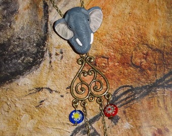 Wisely elephant (necklace and pendant)