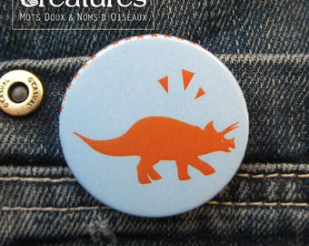 Dinosaur Triceratops 38mm badge