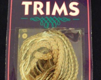 Tan Leather Sequins Western Trims 5 Yards Pack