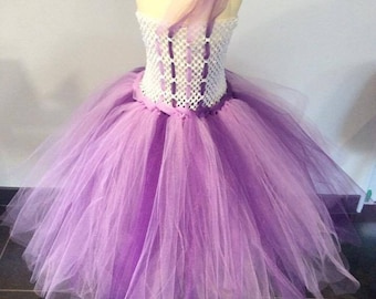 Tutu dress purple 4-6 years