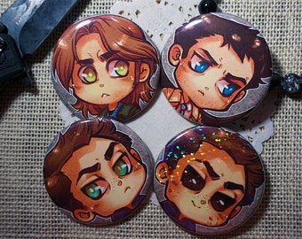 Supernatural 2.25 inch Buttons
