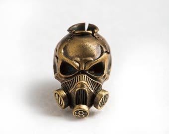 Predator - Bead on a bracelet Mens jewelry Skull bracelet for biker jewelry Unisex bracelet Rocker bracelet  Death metal music