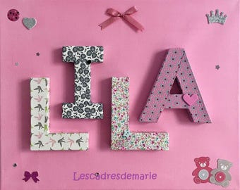 Personalized baby name birthday gift