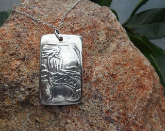 Fine Silver Mermaid Pendant