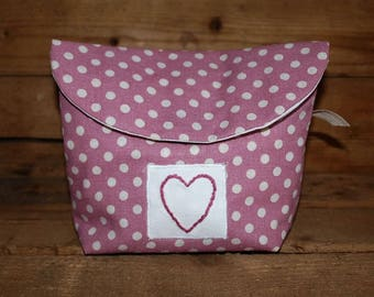 Make up bag, Make up pouch, Cometic bag, Toiletry bag,  Stand up bag, Make up purse,