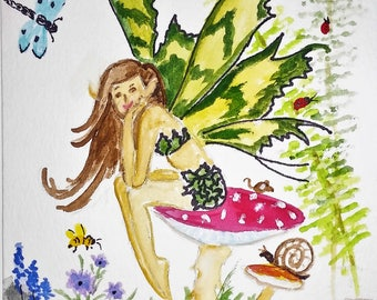 Set of 4 Fairy Folk and Butterflies  Any Occasion Greeting Cards