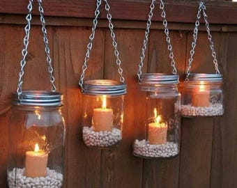Mason Jar Candle Holder Wall Decor