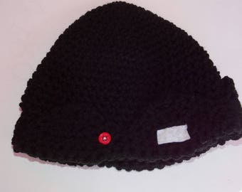 Jughead Jones beanie hat Riverdale inspired black crochet Sale great for Halloween costume ships in 1-3 days
