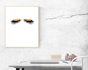 Eye lashes. Simple lashes. PDF download. Printable. Minimalist wall art. Print PDF wall art. PDF download of Eye Lashes.