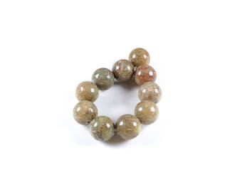 10 LBP00014 10mm natural Unakite beads