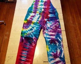 Size 34 Tie Dyed Overalls