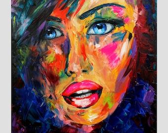 Blue Eyes - Original OIL painting