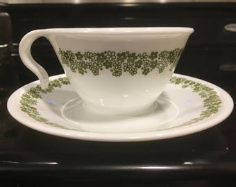 Set of 6 Spring Blossom Corelle Cups and Saucers