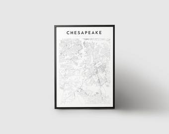 Chesapeake Map Print