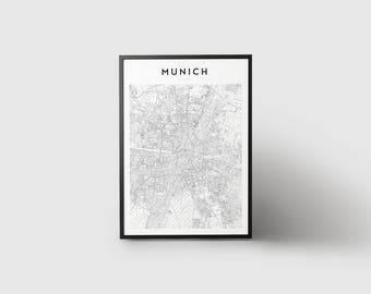 Munich Map Print