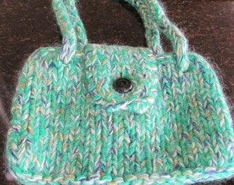 Handmade knitted handbag