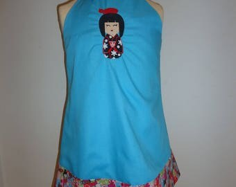 MY KOKESHI TURQUOISE 9/12 MONTHS BABY DRESS