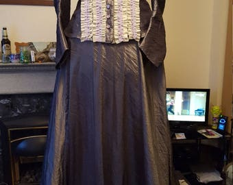 Steel grey taffeta dress