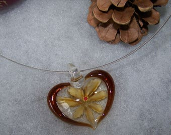 clear & Brown murano style heart