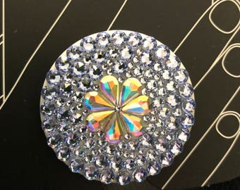 New Popsockets© AB clear Flower purple swarovski crystal PopSocket™ bling lavender grip