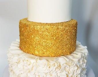 Faux Wedding Cake, 3 tier Dummy wedding cake, Custom Wedding Cake, Fake Wedding Cake, White and Gold Wedding Cake