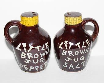 Retro Kitsch Little Brown Jug Salt & Pepper Shakers