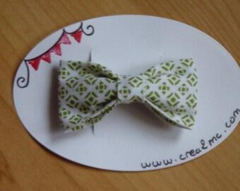 Hair bow white/green