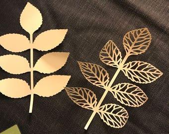Paper Leaf Set (6 of each design)